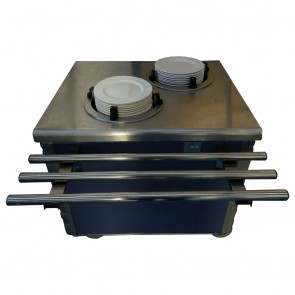 Used plate warmer servery unit on wheels