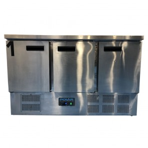 Used Polar G622 3 Door Counter Fridge