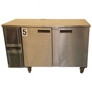 Used Precision two door counter fridge