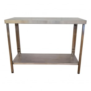 Used Stainless Steel Table with Bottom Shelf 120cm