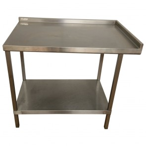 Used stainless steel table and shelf