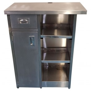 Used commercial kitchen stainless steel unit