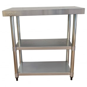 Used Stainless Steel Table with Two Shelfs 90cm