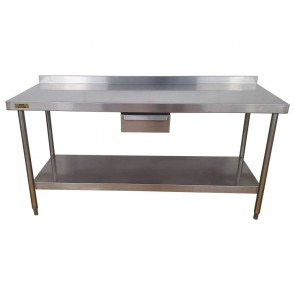 Used Stainless Steel Table 180cm Wide