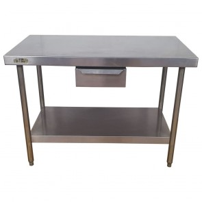 Used Stainless Steel Table 120cm Wide