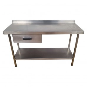 Used Stainless Steel Table 145cm Wide