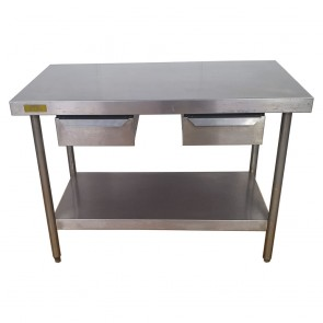 Used Stainless Steel Table 119.5cm Wide