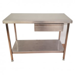 Used Stainless steel table with draw