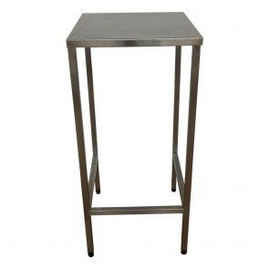 Used tall stainless steel table / stand