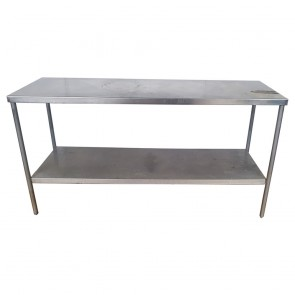 Used Stainless Steel Table 175cm Wide