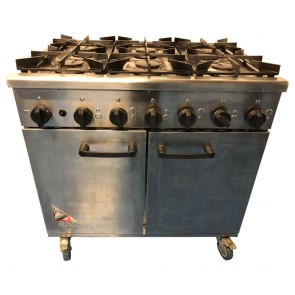 Used Burco Titan Natural Gas 6 Burner Oven