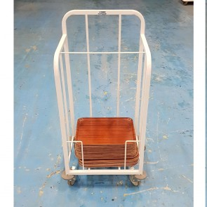 Used Steel Single Tier Tray Dispense Trolley