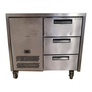 Used Williams Three Draw Prep Fridge