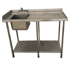 Used single basin stainless steel sink