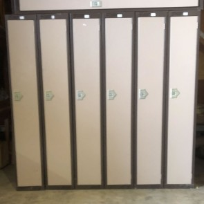 Used steel lockers